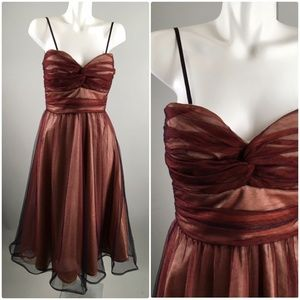 Bettie Paige Red Maroon Lace Strapless Prom Dress